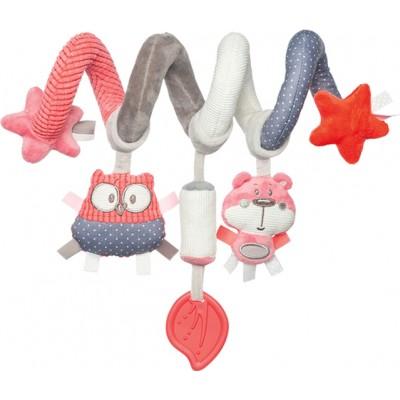 CANPOL BABIES interaktyvus lovelės/ vežimėlio žaislas spiralė Pastel Friends, 68/064_cor