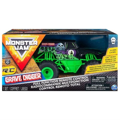 MONSTER JAM visureigis RC 1:24 Grave Digger, 6044955