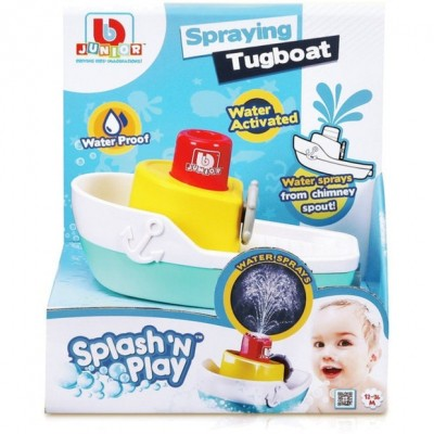 BB JUNIOR vonios žaislas Splash 'N Play Spraying Tugboat, 16-89003
