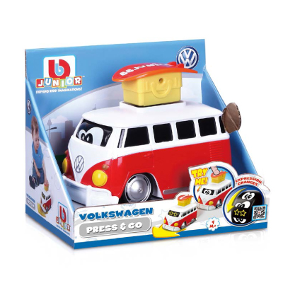 BB JUNIOR autobusiukas Volkswagen Press & Go, 16-85110