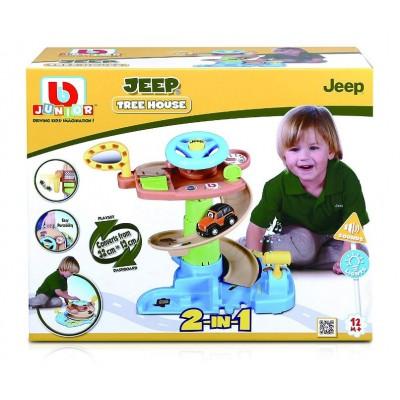 BB JUNIOR trasos rinkinys su automobiliu Jeep Tree House, 16-88603