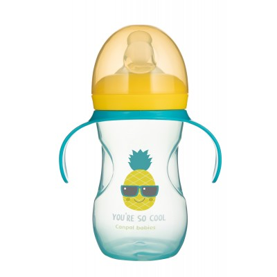 CANPOL BABIES mokomasis puodelis su silikoniniu snapeliu So Cool 270ml, 57/304_tur