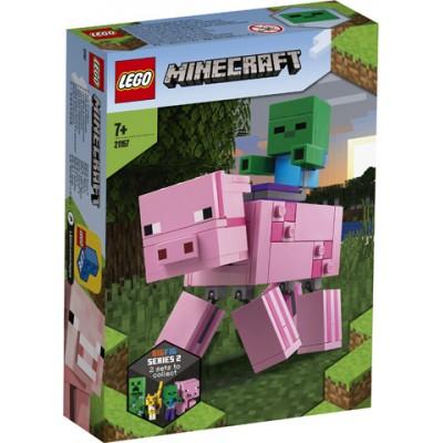 21157 LEGO® Minecraft™ BigFig kiaulė su zombiuku