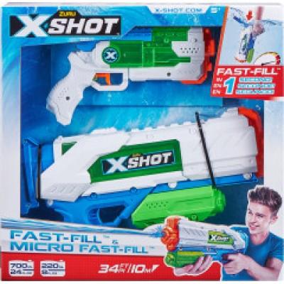 X-SHOT žaislinių vandens šautuvų rinkinys Fast- Fill ir Micro Fast-Fill, 56225