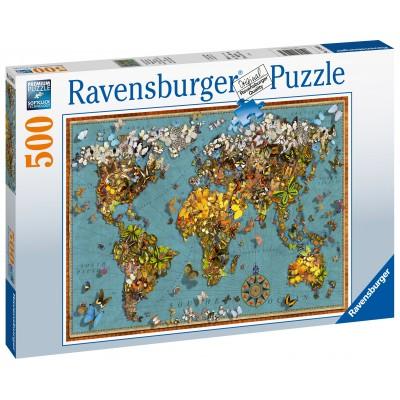 RAVENSBURGER dėlionė Drugelių pasaulis, 500d., 15043