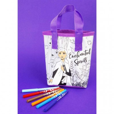 Frozen 2 Colour Your Own Totebag - Elsa, DFR2-4146-2