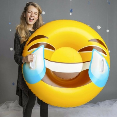 SNOW TUBE sniego padanga Giant Tears Of Joy Emoji, BMSTTE