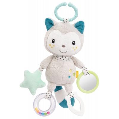 BABYFEHN Minkštas žaislas su barškučiu Cat, 57102