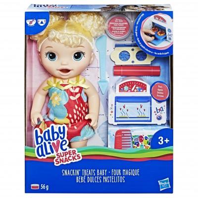 BABY ALIVE lėlytė Snackin treat baby, E1947ES0