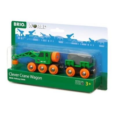 BRIO RAILWAY Kranas su vagonu 33698