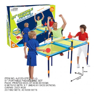 AO JIE stalo teniso rinkinys su stalu, 130x61x58.4cm, AJ2155-2PP