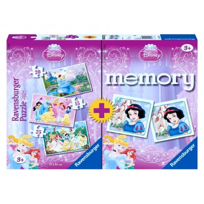 RAVENSBURGER dėlionė ir atminties žaidimas Princess, 07228