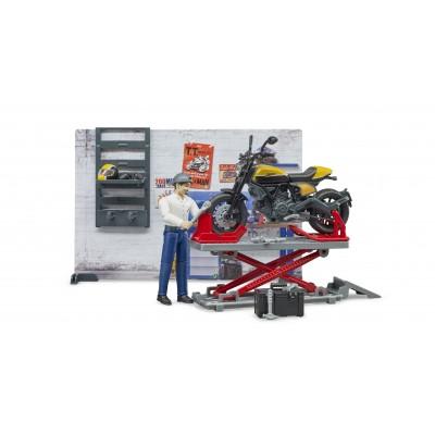 BRUDER motociklų servisas su motociklu Scrambler Ducati Full Throttle, 62102