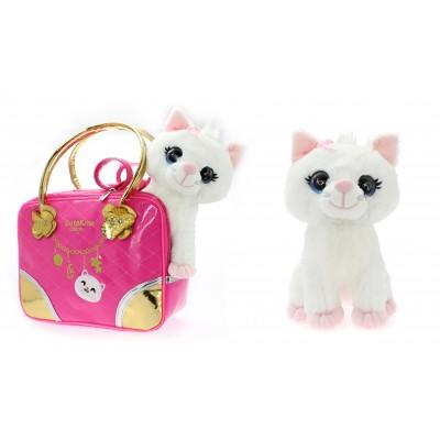 CUTEKINS pliušinis žaislas Katytė su nešiojimo krepšiu, 51084