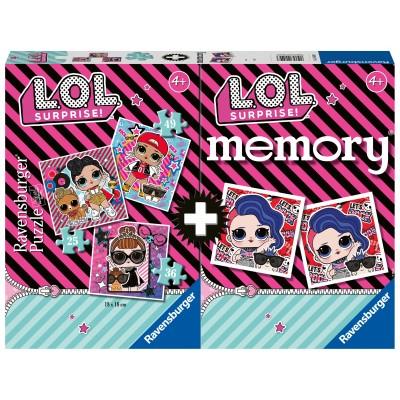 RAVENSBURGER 3 dėlionės ir atminties žaidimas LOL, 20549