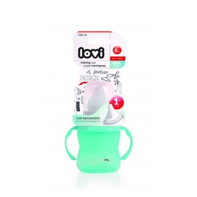 LOVI mokomasis puodelis mint 150ml Retro 35/301