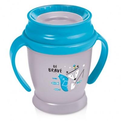LOVI puodelis 360 su rankenėlėmis 210 ml MINI BOY Indian Summer, 1/586new