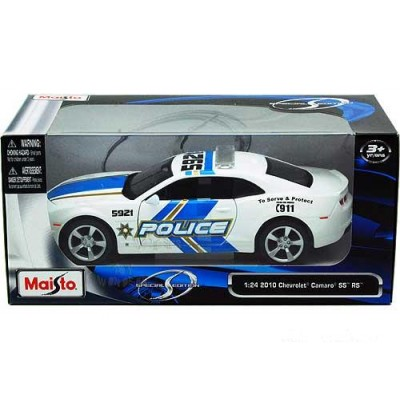 MAISTO DIE CAST automodelis Chevrolet Camaro SS RS Police 2010 1:24 , 31208