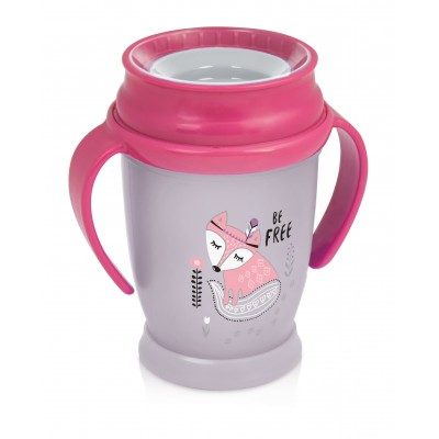 LOVI puodelis 360 su rankenėlėmis 250 ml JUNIOR GIRL Indian Summer 1/591new